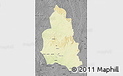 Physical Map of Ippy, darken, desaturated