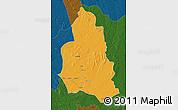 Political Map of Ippy, darken