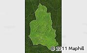 Satellite Map of Ippy, darken