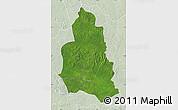 Satellite Map of Ippy, lighten