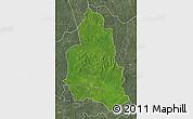 Satellite Map of Ippy, semi-desaturated
