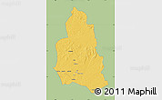Savanna Style Map of Ippy, single color outside