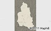 Shaded Relief Map of Ippy, darken