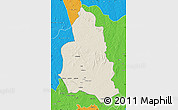 Shaded Relief Map of Ippy, political outside