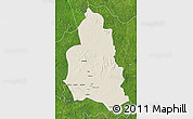 Shaded Relief Map of Ippy, satellite outside