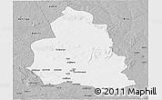 Gray Panoramic Map of Ippy