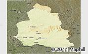 Physical Panoramic Map of Ippy, darken