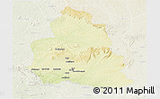Physical Panoramic Map of Ippy, lighten