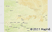 Physical Panoramic Map of Ippy