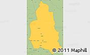 Savanna Style Simple Map of Ippy