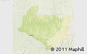 Physical 3D Map of Kouango, lighten