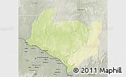 Physical 3D Map of Kouango, semi-desaturated