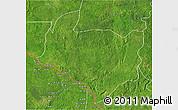 Satellite 3D Map of Kouango