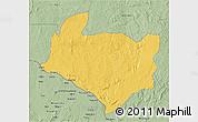 Savanna Style 3D Map of Kouango