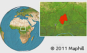 Satellite Location Map of Ouaka