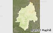 Physical Map of Ouaka, darken