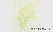 Physical Map of Ouaka, lighten