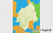 Physical Map of Ouaka, political outside
