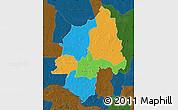 Political Map of Ouaka, darken