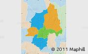 Political Map of Ouaka, lighten