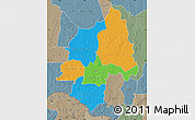 Political Map of Ouaka, semi-desaturated