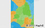 Political Shades Map of Ouaka