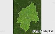 Satellite Map of Ouaka, darken
