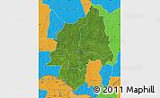 Satellite Map of Ouaka, political outside
