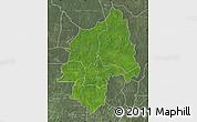 Satellite Map of Ouaka, semi-desaturated