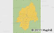 Savanna Style Map of Ouaka, single color outside