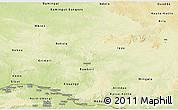 Physical Panoramic Map of Ouaka