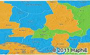 Political Panoramic Map of Ouaka