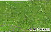 Satellite Panoramic Map of Ouaka
