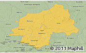 Savanna Style Panoramic Map of Ouaka