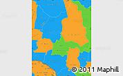 Political Simple Map of Ouaka