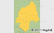 Savanna Style Simple Map of Ouaka