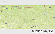 Physical Panoramic Map of Batangafo