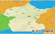 Physical Panoramic Map of Bossangoa