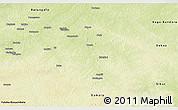 Physical Panoramic Map of Bouca