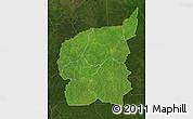 Satellite Map of Ouham, darken