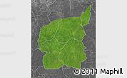 Satellite Map of Ouham, desaturated
