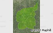 Satellite Map of Ouham, semi-desaturated