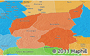 Political Shades Panoramic Map of Ouham