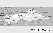 Gray Panoramic Map of Central African Republic