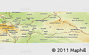 Physical Panoramic Map of Central African Republic