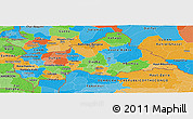 Political Panoramic Map of Central African Republic