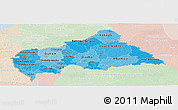 Political Shades Panoramic Map of Central African Republic, lighten
