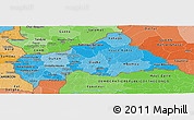 Political Shades Panoramic Map of Central African Republic