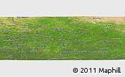 Satellite Panoramic Map of Central African Republic