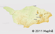 Physical 3D Map of Ouandja-Djalle, cropped outside